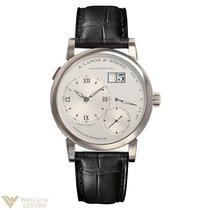 A. Lange & Söhne Grand Lange 18k White Gold Leather Manual...