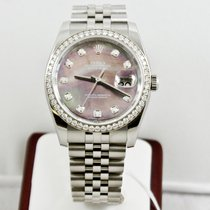 Rolex Mens Datejust 116244 Rolex Dark MOP Diamond Dial