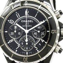 Chanel Polished Chanel J12 Chronograph Ceramic Automatic Mens...
