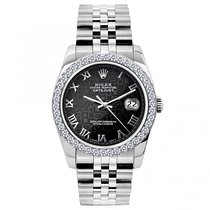 Rolex Datejust Ladies' 26mm Black Jubilee Dial Stainless...