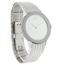 Movado Sapphire Concept 60 Mens Mirror Dial Swiss Quartz Watch...