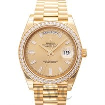Rolex Day-Date 40 Champagne 18k Yellow Gold Dia 40mm - 228348RBR