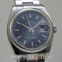 Rolex Oyster Perpetual Datejust Bleu 116200 Carte Rolex +Pochette