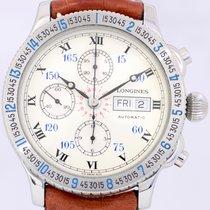 Longines Charles Lindbergh Stundenwinkel Chronograph Edelstahl...