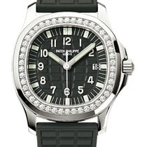 Patek Philippe Aquanaut Luce Ladies Diamond Bezel Black Dial...