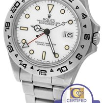 Rolex Explorer II 16550 Fat Font Stainless Polar White Date GMT