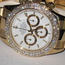 Rolex Daytona 18K Solid Yellow Gold Automatic Diamonds