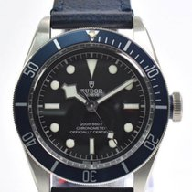 Tudor Heritage Black Bay Blue Disc Blue Leather Automatic Men...