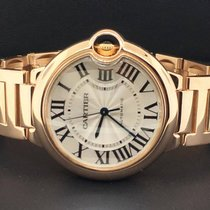Cartier Ballon Bleu 36mm 18k Rose Gold Silver Roman Numeral...