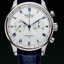Paul Picot GENTLEMENT chronograph strap skin blue dial white