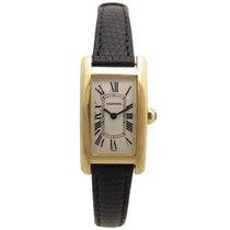 Cartier 1710 tank americaine pm quartz en or 18k watch