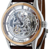 Oris Artelier Translucent Skeleton Automatic Steel Mens Watch...
