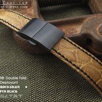 MiLTAT For Rolex 21mm CrocoCalf Honey Brown Watch Strap, PVD