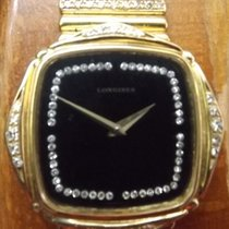 Longines - Wristwatch in 18 carat yellow gold-adorned with...