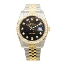 勞力士 (Rolex) Datejust Gold Steel Diamond Black Automatic 116243GBK