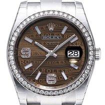 Rolex Datejust 36 Edelstahl Weißgold Diamant Lünette