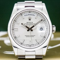 Rolex 118209 Day Date President White Gold Silver Dial (26272)