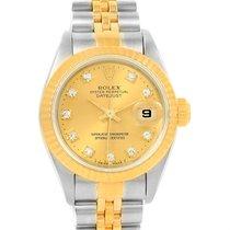 Rolex Datejust Steel Yellow Gold Diamond Dial 26mm Ladies...