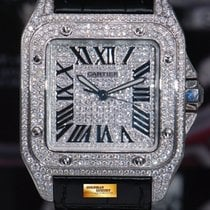 Cartier Santos 100 Xl Custom Full Paved Diamonds Automatic (mint)