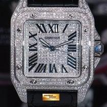 까르띠에 (Cartier) Santos 100 Xl Custom Full Paved Diamonds...