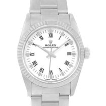 Rolex Midsize Datejust Steel White Gold Ladies Watch 67514 Box...