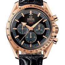 Omega Speedmaster Broad Arrow Rose Gold Mens Watch