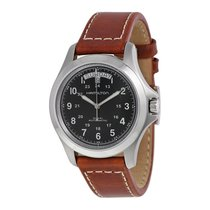 Hamilton Khaki King Mens Leather Strap Watch H64455533