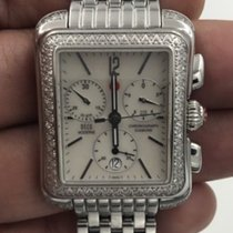 Michele Michelle Deco Diamond Moderne Chronograph Stainless...