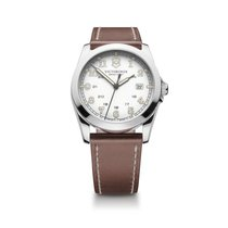 Victorinox Swiss Army Infantry white dial, leather strap,...
