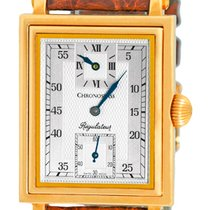 "Chronoswiss ""Regulateur Rectangulaire"" Strapwatch."
