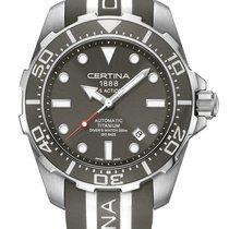 Certina DS Action Diver Titanium Farbe Grau (Kautschuk)