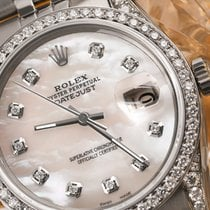 Rolex Ladyes Rolex 36mm Datejust White Mop Mother Of Pearl...