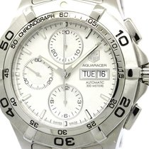 TAG Heuer Polished Tag Heuer Aquaracer Chronograph Steel...