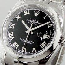 Rolex Datejust 116200 Jubilee Bracelet Black Roman Dial