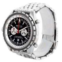 Breitling Chronomatic Chronograph Left Crown Watch A41360 Box...