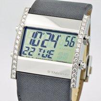 TAG Heuer Microtimer Diamond Stainless Steel Digital Watch Cs111f