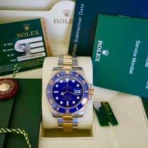 "Rolex SUBMARINER  CERAMICA ACCIAIO ED ORO LIKE NEW ""PUFFO&..."