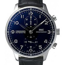 IWC Portuguese Chronograph Automatic Black Dial IW371447