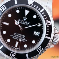 Rolex Sea-Dweller SuperLuminova 40mm Steel Black Indexes Full Set