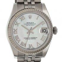 Rolex Datejust Medium Stahl/Weißgold Jubilé Armband Perlmutt ...