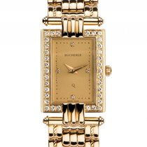 Carl F. Bucherer Damenuhr 18kt Gelbgold Diamond Quarz Armband...