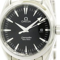 Omega Polished Omega Seamaster Aqua Terra Steel Quartz Mens...