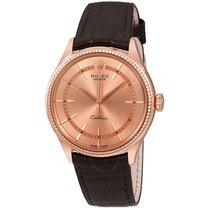 Rolex Cellini Pink Gold Diamond 18K Everose Gold Men's Watch
