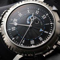 Breguet Marine 5847 Black Dial Black Rubber Strap 5847BB925ZV