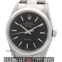 Rolex Air-King Precision Stainless Steel 34mm Black Dial A Serial