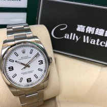 Rolex Cally - 114200 Oyster Perpetual White Arabic 369 Black 白369