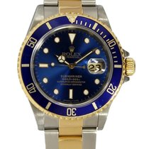 Rolex Submariner 1990's Two Tone Blue Index Dial 16613