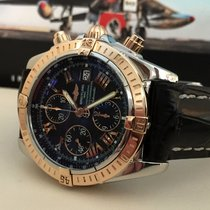 Breitling Chronomat Evolution Rose Gold Steel Roman Dial 44 mm...