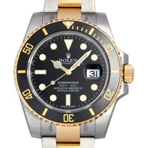 勞力士 (Rolex) Submariner SS/18K Gold Ceramic Black Dial Mens...