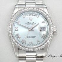 Rolex DAYDATE 118346 PLATIN 950 DIAMANTEN AUTOMATIK 36 mm...
